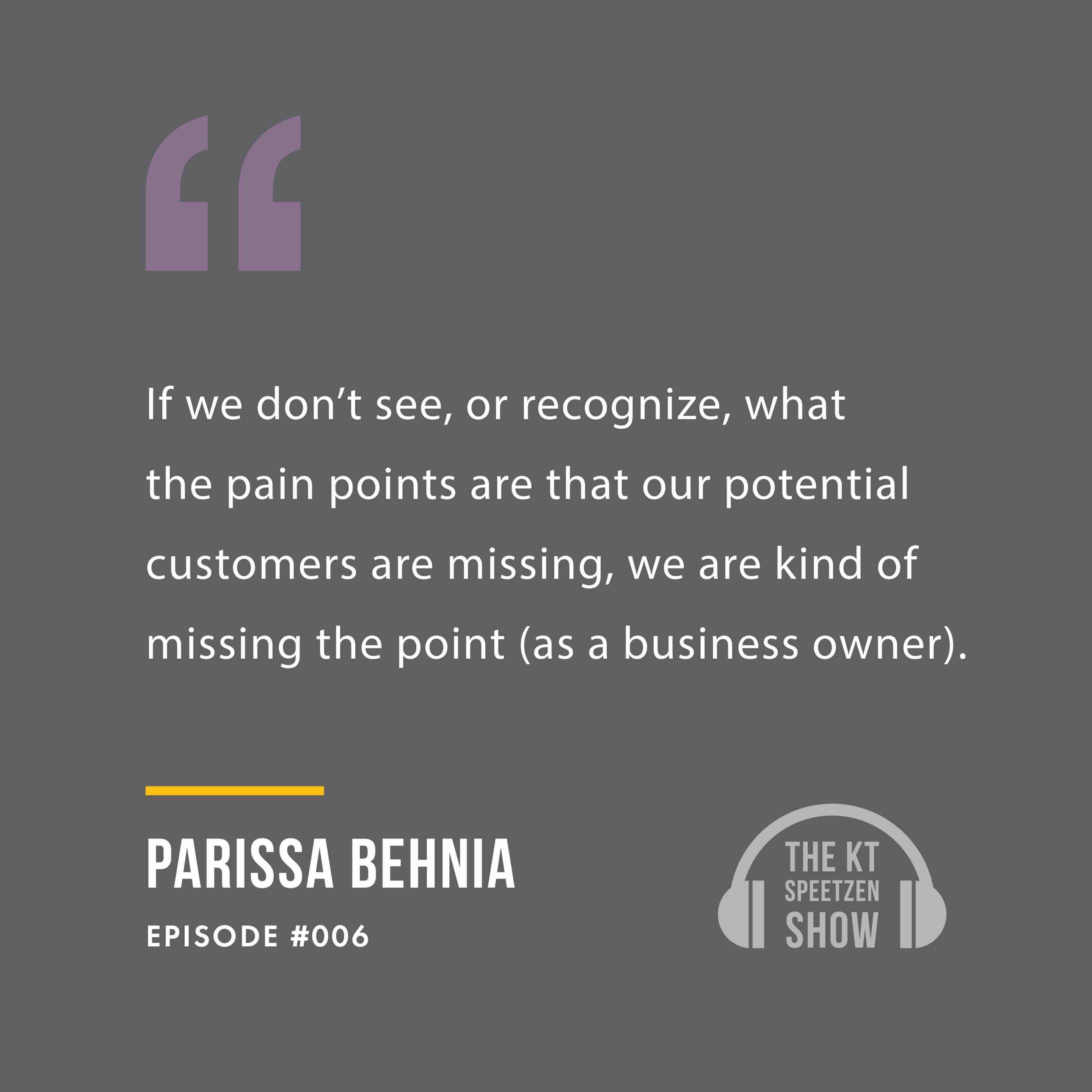 Parissa Behnia, featured on the podcast KT Speetzen Presents
